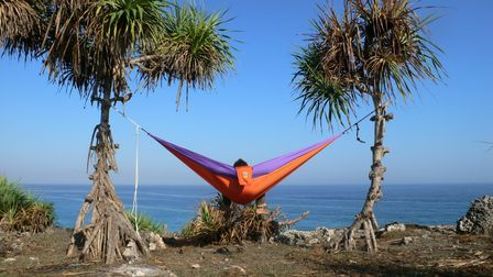 Lightweight hammock is ideal for your camping adventures