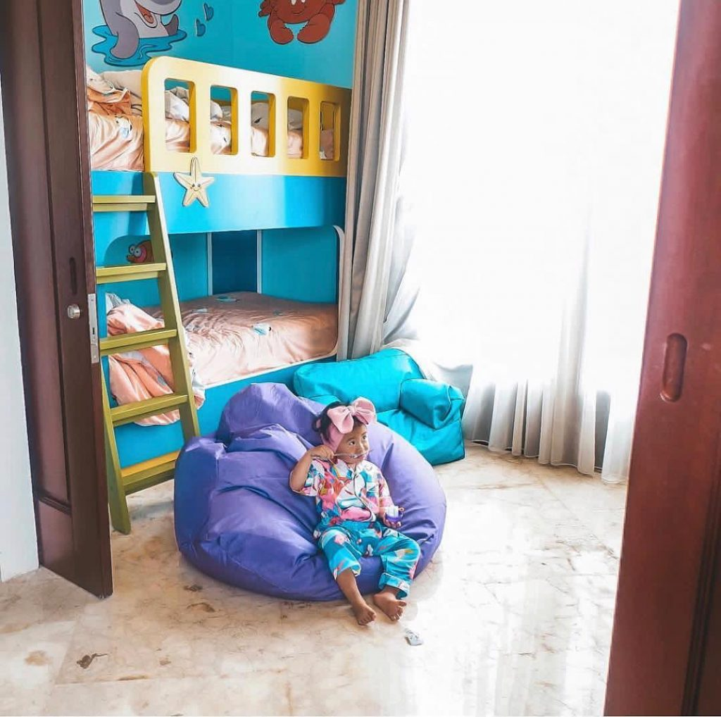 Take the connecting room or built-in kids suite